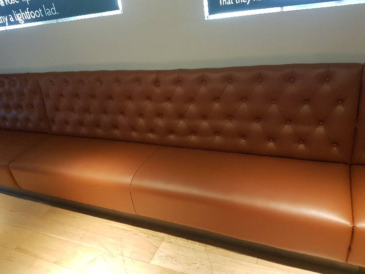 Complete re-cover of the restaurant seating