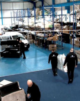 People working in our 8,000 SQ FT workshop