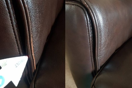 Leather Sofa Before & After