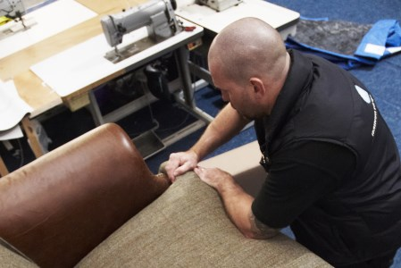 Repairing of a fabric sofa
