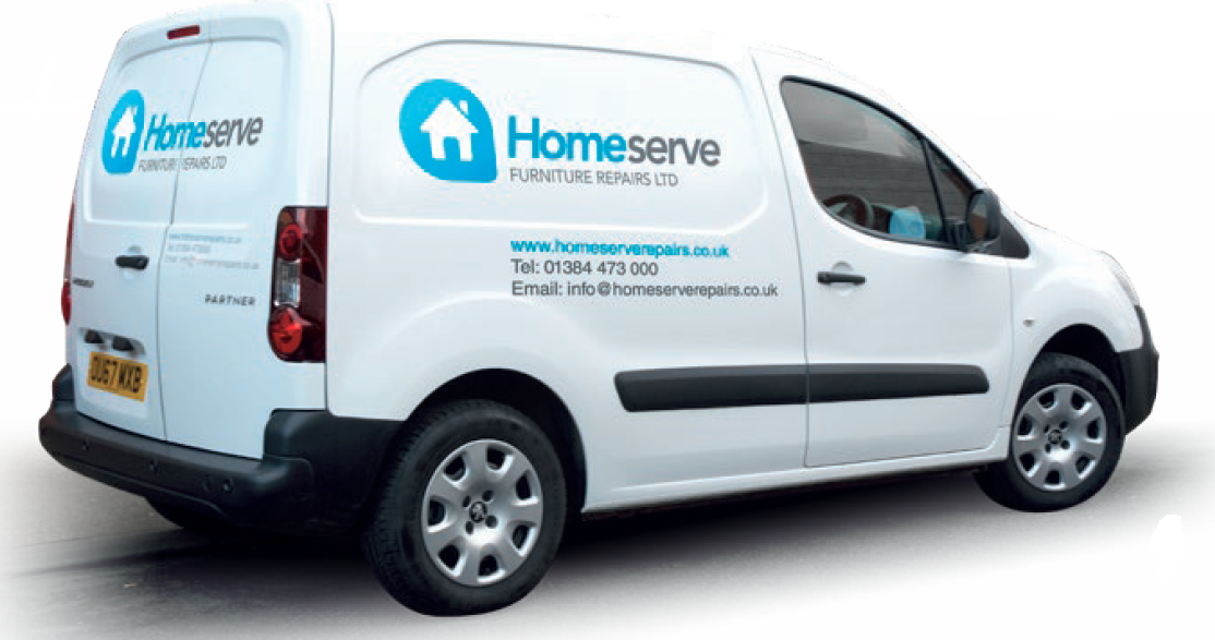 Homeserve van for the uplift service