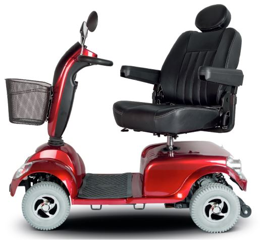 Picture of a red mobility scooter